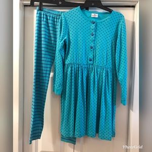Hanna Andersson Outfit Dress and Leggings Sz 140